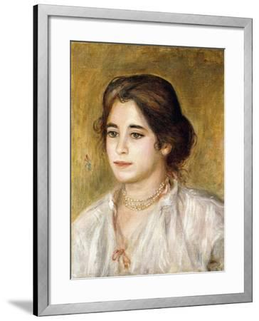 Gabrielle Au Collier, 1906-Pierre-Auguste Renoir-Framed Giclee Print