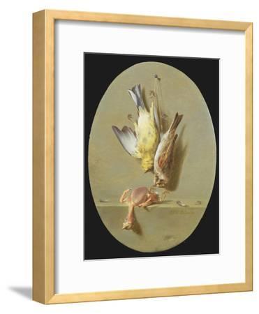 A Trompe L'Oeil of Dead Songbirds-Jean Joseph Xavier Bidauld-Framed Giclee Print