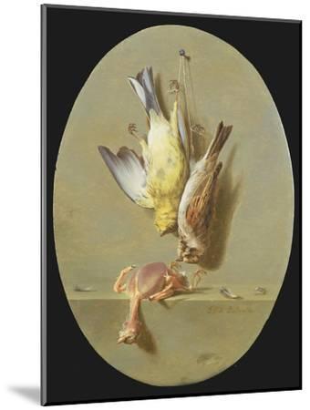 A Trompe L'Oeil of Dead Songbirds-Jean Joseph Xavier Bidauld-Mounted Giclee Print