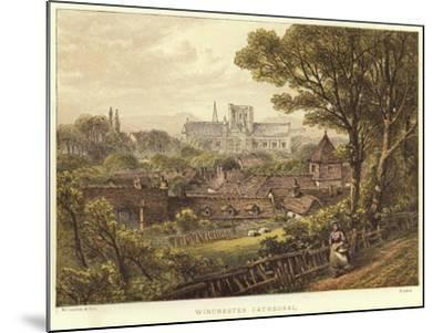 Winchester Cathedral in Winchester--Mounted Giclee Print