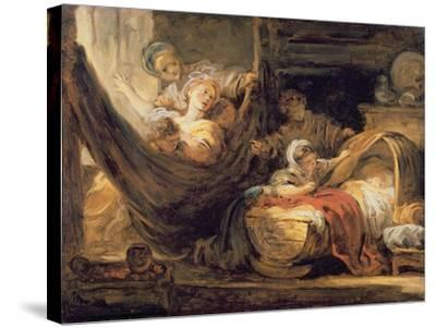 The Cradle-Jean-Honor? Fragonard-Stretched Canvas Print