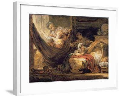 The Cradle-Jean-Honor? Fragonard-Framed Giclee Print