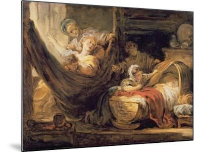 The Cradle-Jean-Honor? Fragonard-Mounted Giclee Print
