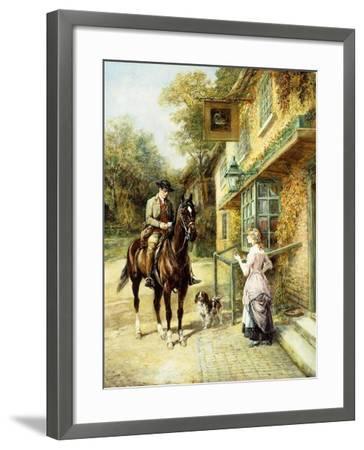 The Village Postman-Heywood Hardy-Framed Giclee Print