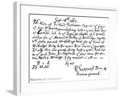 William Sancroft--Framed Giclee Print
