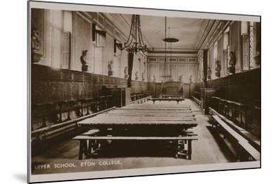 Upper School, Eton College--Mounted Photographic Print