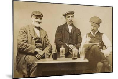 Three Working Men Enjoying a Drink--Mounted Photographic Print