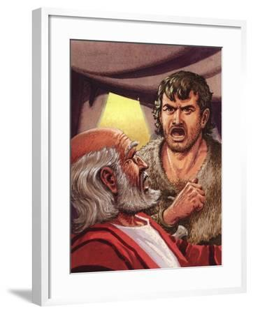 Esau with His Father Isaac-Pat Nicolle-Framed Giclee Print