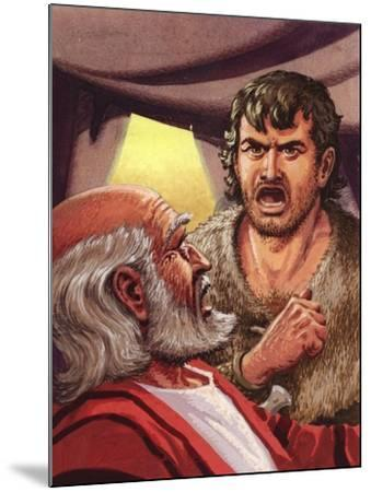 Esau with His Father Isaac-Pat Nicolle-Mounted Giclee Print