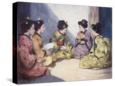 Butterflies-Mortimer Ludington Menpes-Stretched Canvas Print