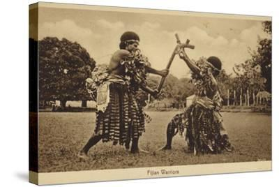 Fijian Warriors--Stretched Canvas Print
