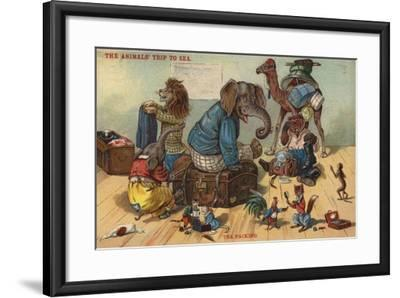 The Packing - the Animals' Trip to Sea--Framed Giclee Print