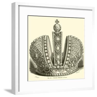 Crown of Elizabeth of Russia--Framed Giclee Print
