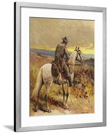 A Scout - North America-Frank Feller-Framed Giclee Print