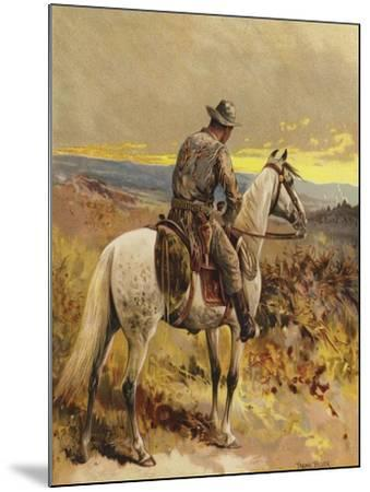 A Scout - North America-Frank Feller-Mounted Giclee Print