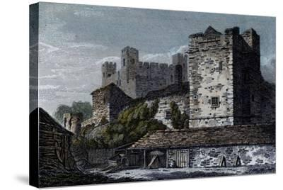 Rochester Castle, Kent--Stretched Canvas Print
