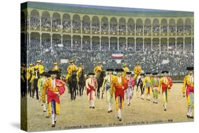 Bull Fight in Spain, Early 20th Century--Stretched Canvas Print