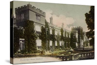 Panshanger House, Hertford--Stretched Canvas Print