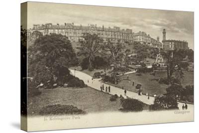 In Kelvingrove Park, Glasgow- Scottish Photographer-Stretched Canvas Print