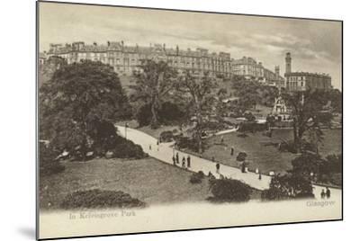 In Kelvingrove Park, Glasgow- Scottish Photographer-Mounted Photographic Print