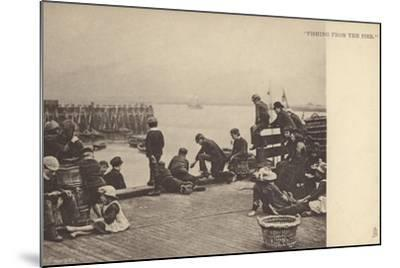 Fishing from the Pier--Mounted Photographic Print