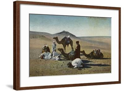 Arabs Praying in the Desert--Framed Photographic Print
