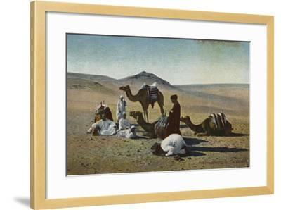 Arabs Praying in the Desert--Framed Photographic Print