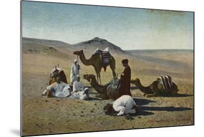 Arabs Praying in the Desert--Mounted Photographic Print