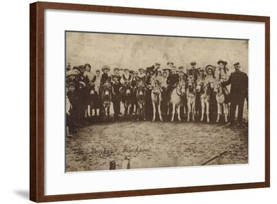 The Donkeys, Blackpool--Framed Photographic Print
