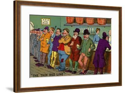 The Thin Red Line--Framed Giclee Print