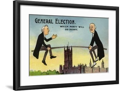 General Election. Which Party Will Go Down?--Framed Giclee Print