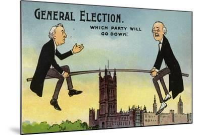 General Election. Which Party Will Go Down?--Mounted Giclee Print