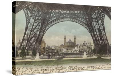 Postcard Depicting Le Trocadero--Stretched Canvas Print