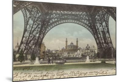 Postcard Depicting Le Trocadero--Mounted Photographic Print