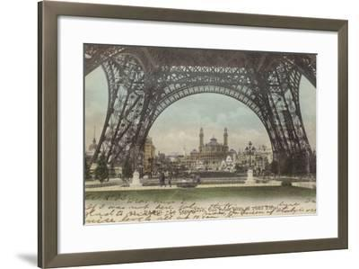 Postcard Depicting Le Trocadero--Framed Photographic Print