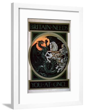 Britain Needs You at Once'--Framed Giclee Print