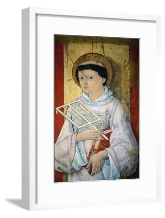 St Lawrence, Oil on Panel-Pietro Alamanno-Framed Giclee Print