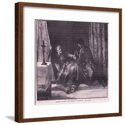 Robert Bruce's Last Orders to Douglas-Mary L. Gow-Framed Giclee Print