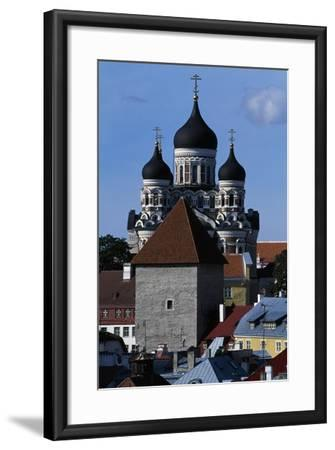 Old Town of Tallinn--Framed Giclee Print