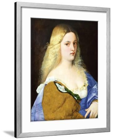 Violante, by Titian--Framed Giclee Print