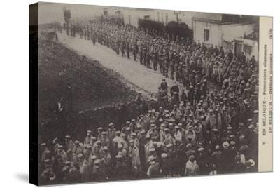 German Pows, Belgium, World War I--Stretched Canvas Print