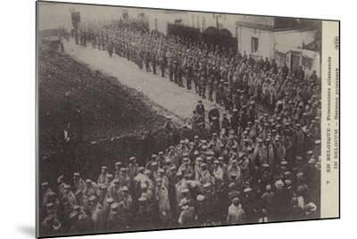 German Pows, Belgium, World War I--Mounted Photographic Print