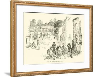 View in Pont-Aven, Brittany--Framed Giclee Print