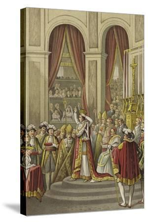 Coronation of Napoleon as Emperor of France, 1804--Stretched Canvas Print
