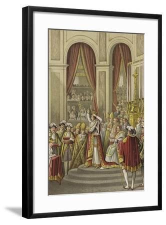 Coronation of Napoleon as Emperor of France, 1804--Framed Giclee Print