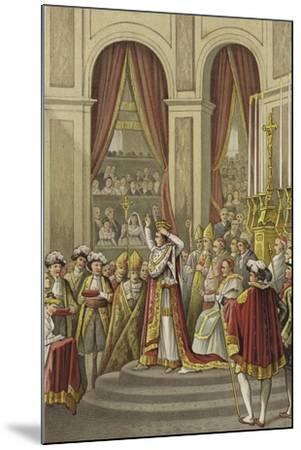 Coronation of Napoleon as Emperor of France, 1804--Mounted Giclee Print