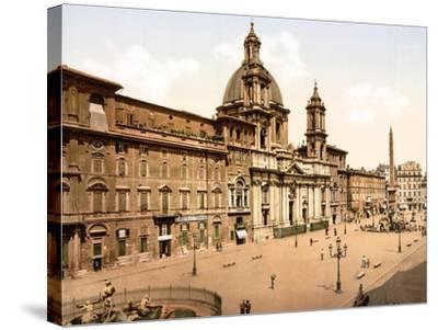 Piazza Navona, Rome--Stretched Canvas Print