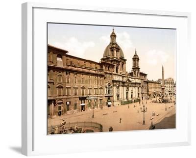 Piazza Navona, Rome--Framed Giclee Print