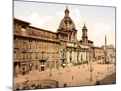 Piazza Navona, Rome--Mounted Giclee Print