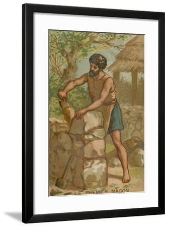 The First Mason--Framed Giclee Print